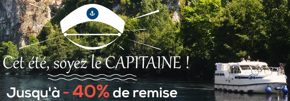 Cet été, soyer le Capitaine 40 % de remise