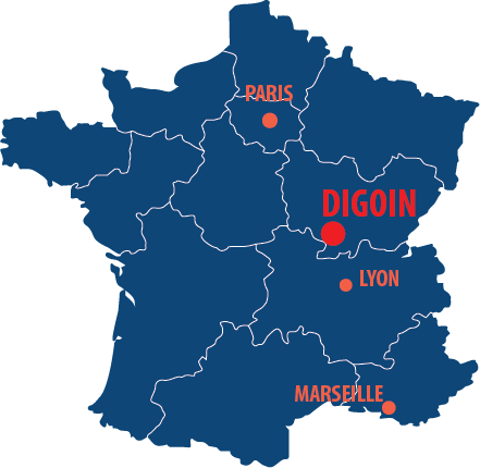 Situation géographique de Digoin en France