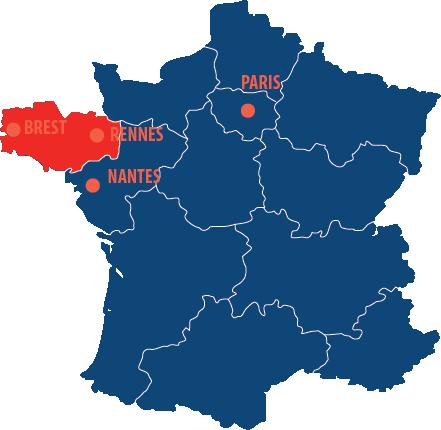 Situation géographique de la Breatgne en France
