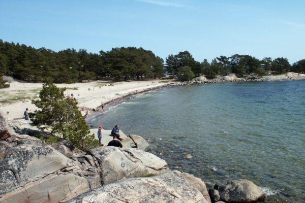 Sweden's largest inland sandy beach inMotala
