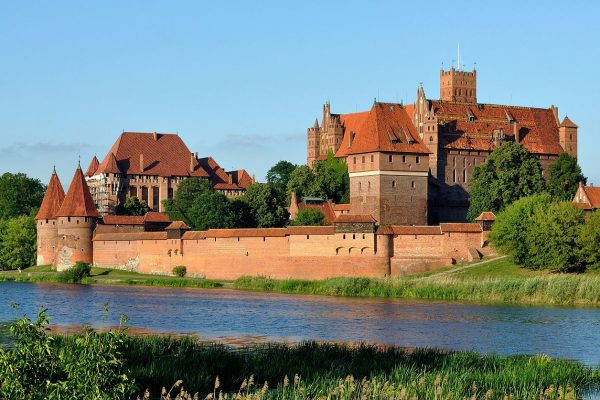 Malbork, the largest brick castle in Europe